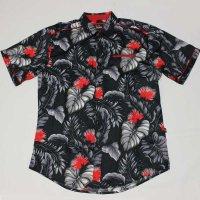 VINO(ヴィーノ)ウーヴィンアロハ S/Sシャツ(ブラックXレッド)