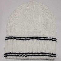 HANA ニットビーニー(ニット帽)(ホワイト-ライン)