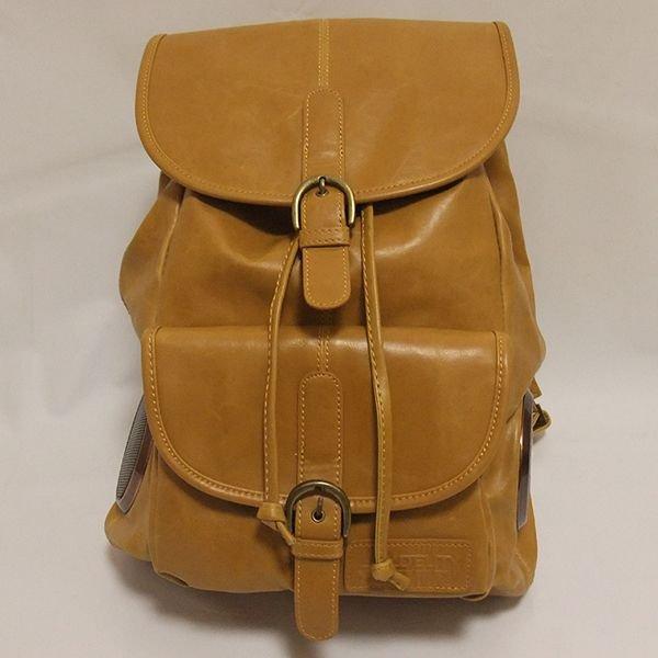 画像3: FYDELITY(フィデリティー) OLD SCHOOL ステレオバックパック(タン-Faux Leather)