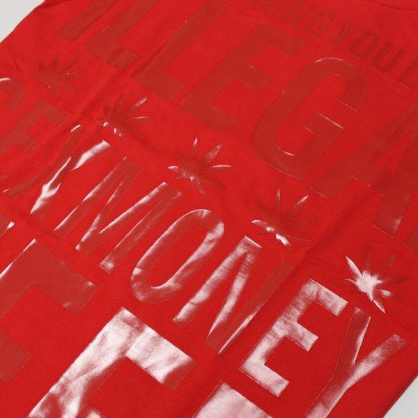 画像4: SEX MONEY WEED(セックス・マネー・ウィード)レターTシャツ(レッド)