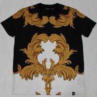 HUDSON(ハドソン)Tシャツ(ブラックXホワイトXキャメル)