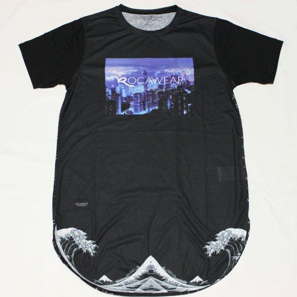 画像1: ROCAWEAR EUROLINE(ロカウェアユーロライン)TOKYO ROCATシャツ(ブラック)