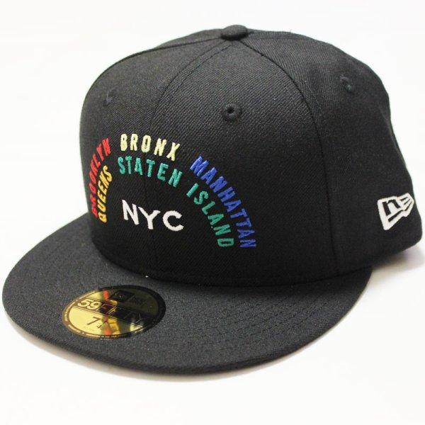 画像1: NEWERA (ニューエラ)59FIFTY NYC RAINBOW(ニューヨークシティ・レインボー) BLACK