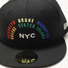 他のアングル写真1: NEWERA (ニューエラ)59FIFTY NYC RAINBOW(ニューヨークシティ・レインボー) BLACK