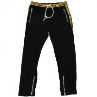 REASON(リーズン) EMB TERRY TRACK PANT(BLACK)