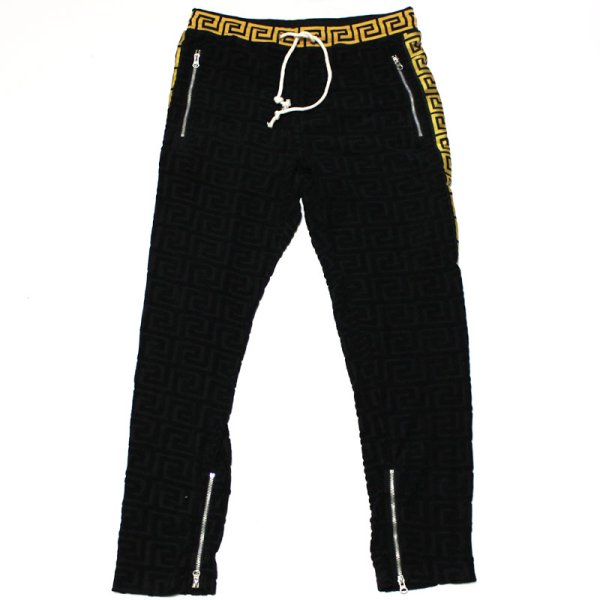 画像1: REASON(リーズン) EMB TERRY TRACK PANT(BLACK)