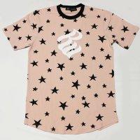 ROCAWEAR(ロカウェア)STAR & LOGO Tシャツ(ピンク)