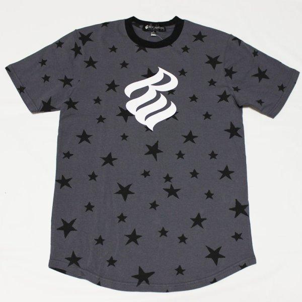 画像1: ROCAWEAR(ロカウェア)STAR & LOGO Tシャツ(チャコール)