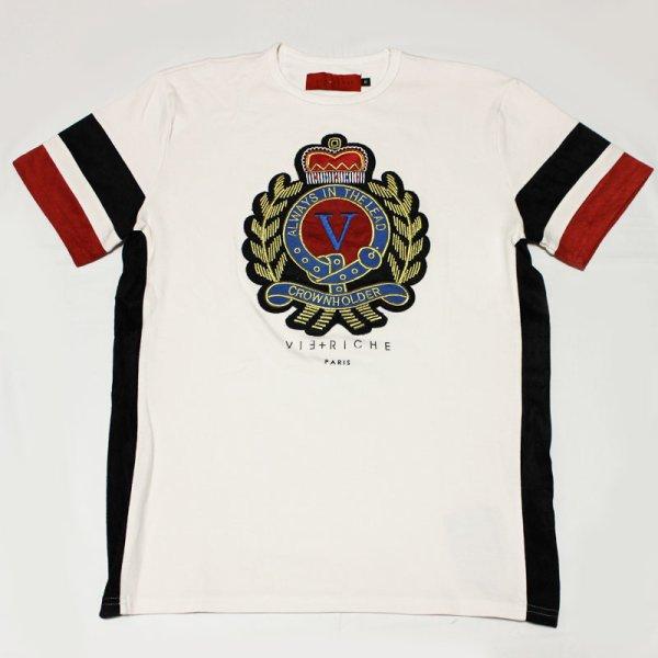 画像1: VIE RICHE(ヴィリッシュ)CHEST CREST Tシャツ(OFFWHITE)