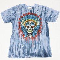 REASON(リーズン)  SEQUIN HEADDRESSTシャツ(BLUE)