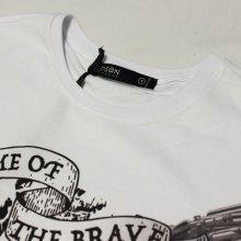 他のアングル写真1: HUDSON OUTERWEAR(ハドソン) HOME OF BRAVE SS  Tシャツ(WHITE)