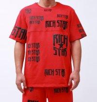 RICH STAR(リッチスター)LOGO REPEAT Tシャツ (R1230273)RED
