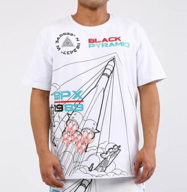 画像1: BLACK PYRAMID(ブラックピラミッド)BPX T-Shirt (Y1161985) white