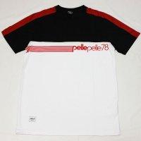 PELLE PELLE(ペレペレ)STADIUM BACK Tシャツ (ホワイト-ブラック-レッド) PP3068