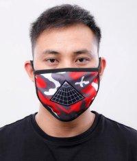 BLACK PYRAMID(ブラックピラミッド)Pyramid Logo Face Mask red (Y7162565) (フェイスマスク)