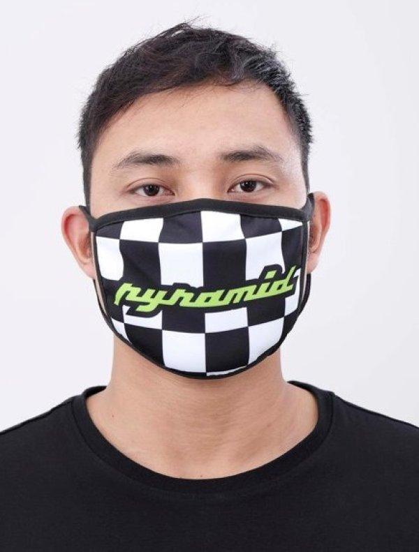 画像1: BLACK PYRAMID(ブラックピラミッド)Finish Line Face Mask (Y7162573) (フェイスマスク)