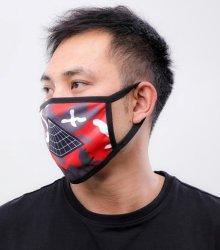 他のアングル写真2: BLACK PYRAMID(ブラックピラミッド)Pyramid Logo Face Mask red (Y7162565) (フェイスマスク)