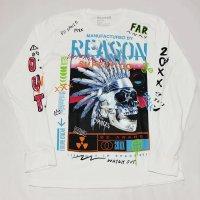 REASON(リーズン)CHEAF  L/S Tシャツ(WHITE)