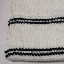 他のアングル写真2: HANA ニットビーニー(ニット帽)(ホワイト-ライン)