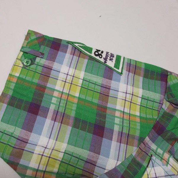 画像3: 【セール30%OFF】RAW BLUE S/Sプレイド刺繍シャツ(グリーンコンボ)
