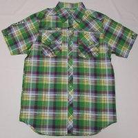 【セール30%OFF】RAW BLUE S/Sプレイド刺繍シャツ(グリーンコンボ)